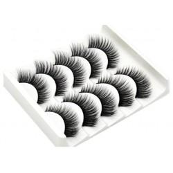 5 Pairs Mink Hair Thick Curled False Eyelashes b210