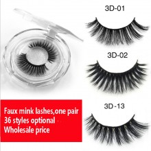 3D faux mink eye lashes,Synthetic eye lashes