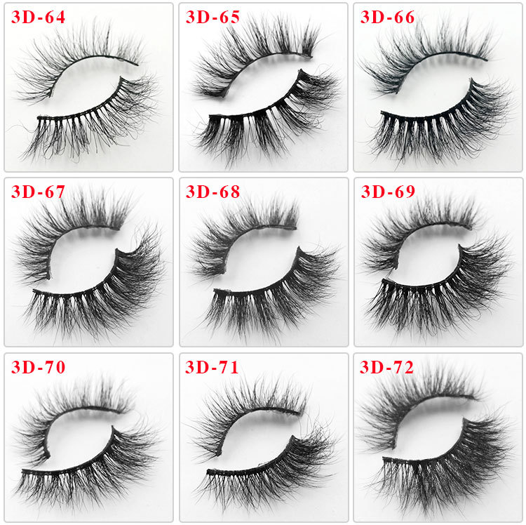 All 3D mink lashes 72