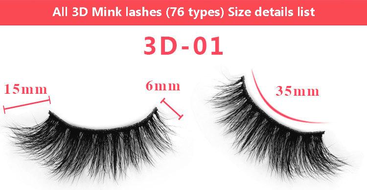 3d mink lashes size details 01