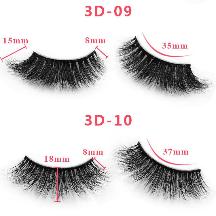3d mink lashes size details 06