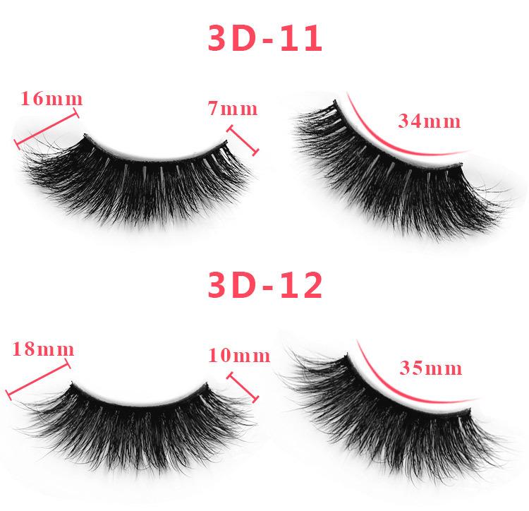 3d mink lashes size details 07