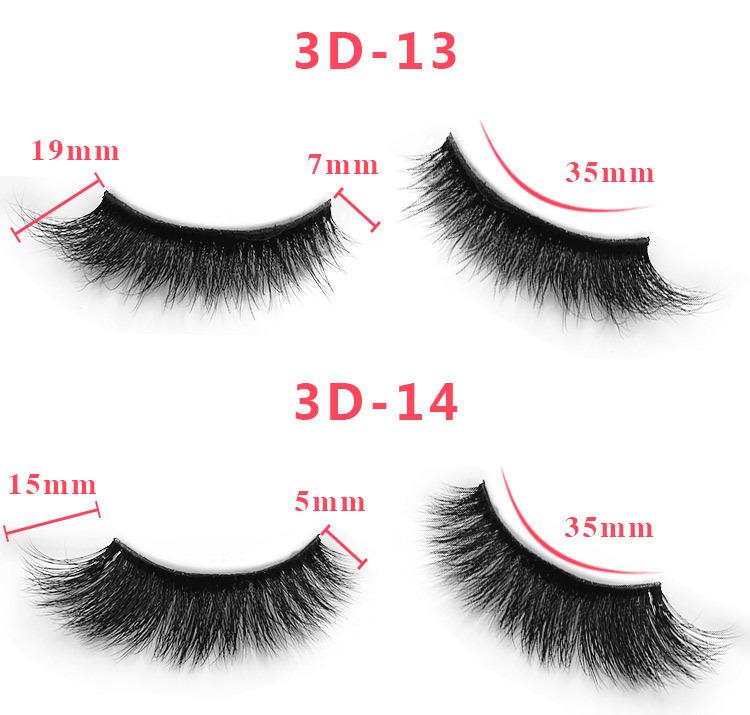 3d mink lashes size details 08