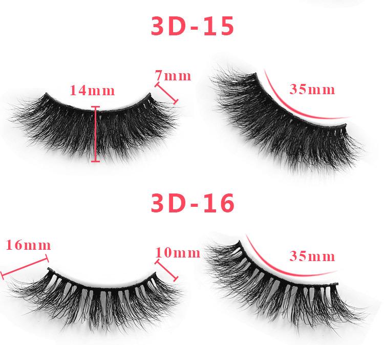 3d mink lashes size details 09