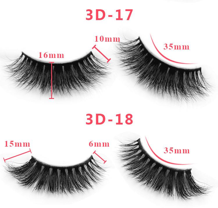3d mink lashes size details 055