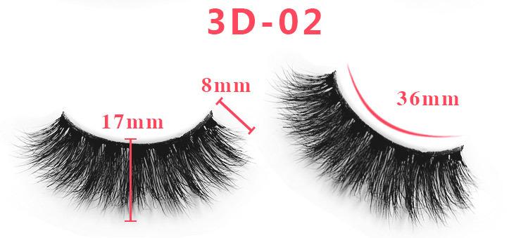 3d mink lashes size details 02