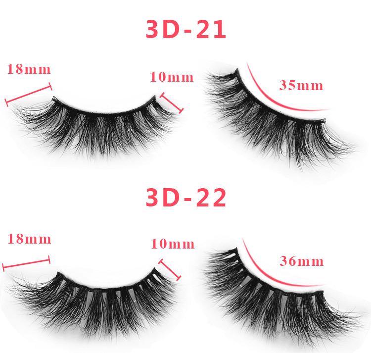 3d mink lashes size details 066