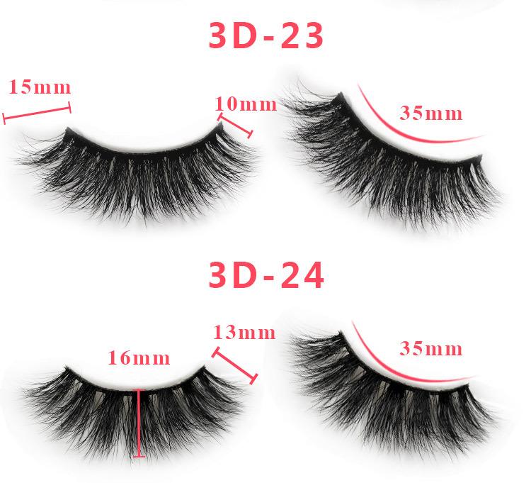 3d mink lashes size details 0144