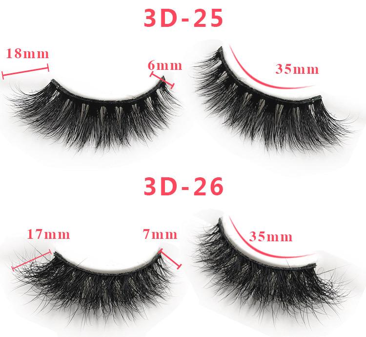 3d mink lashes size details 014