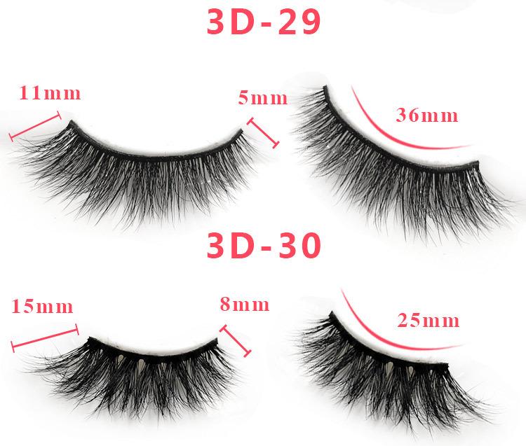 3d mink lashes size details 041