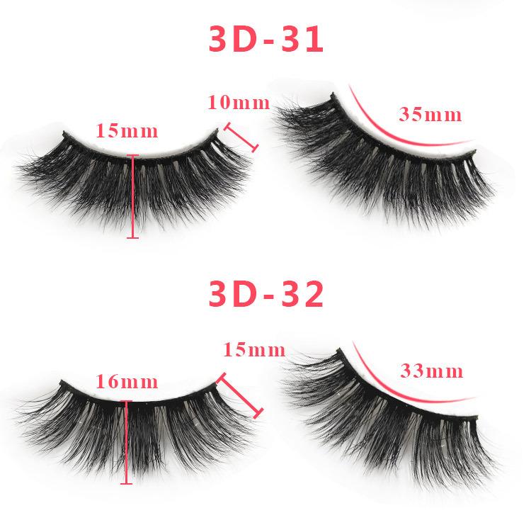 3d mink lashes size details 051