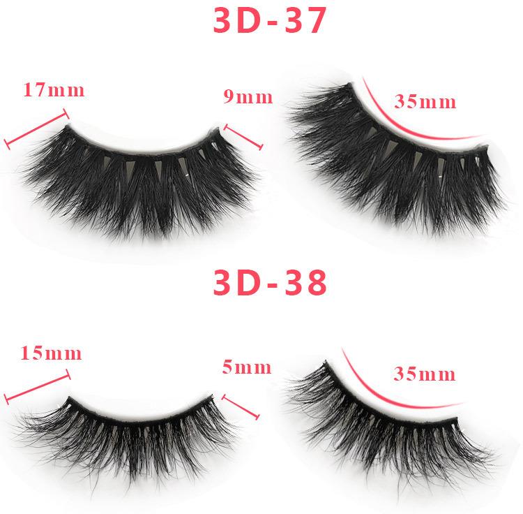 3d mink lashes size details 031
