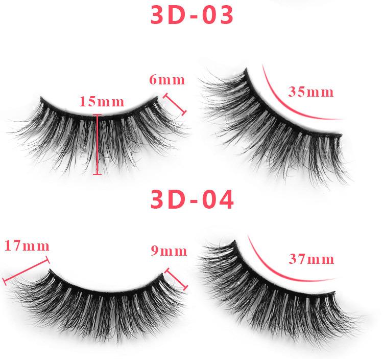 3d mink lashes size details 03