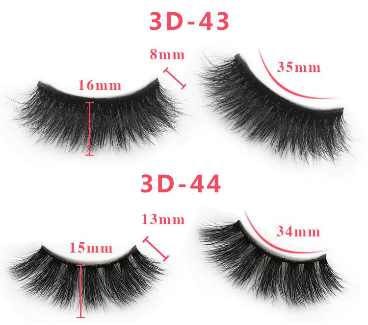 3d mink lashes size details 0431