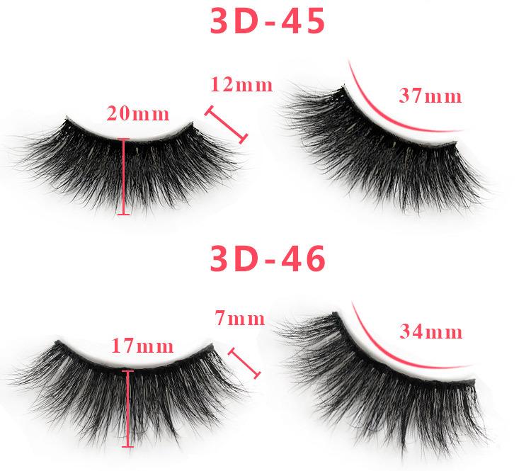 3d mink lashes size details 0561