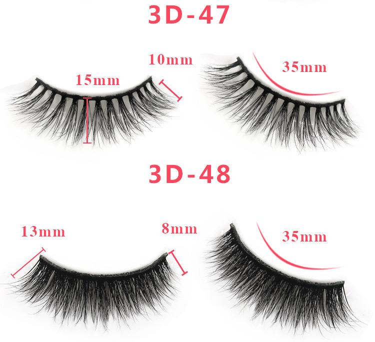 3d mink lashes size details 2301