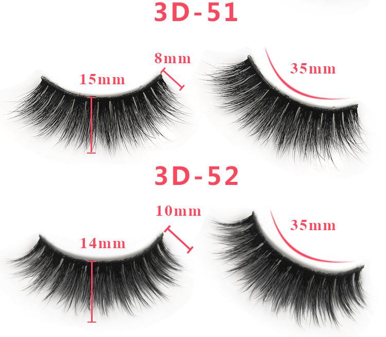 3d mink lashes size details 02321