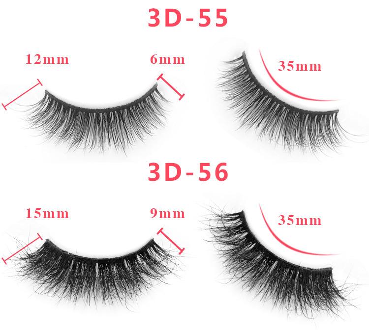 3d mink lashes size details 05641