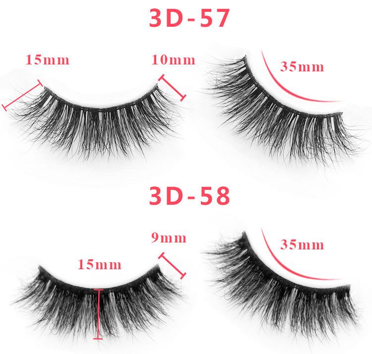 3d mink lashes size details 045341