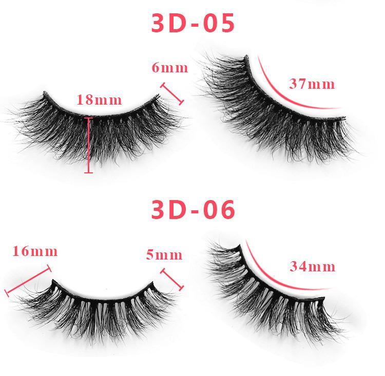 3d mink lashes size details 04
