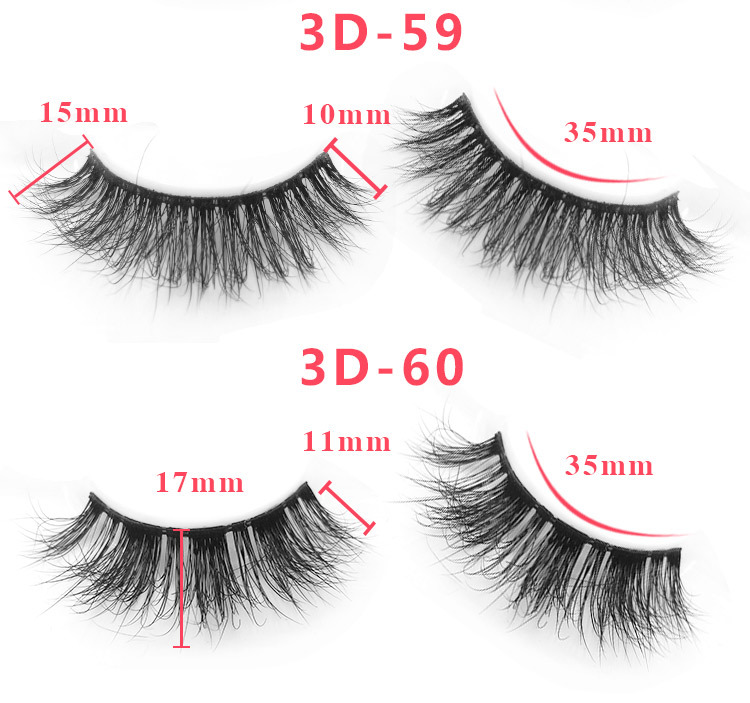3d mink lashes size details 0341