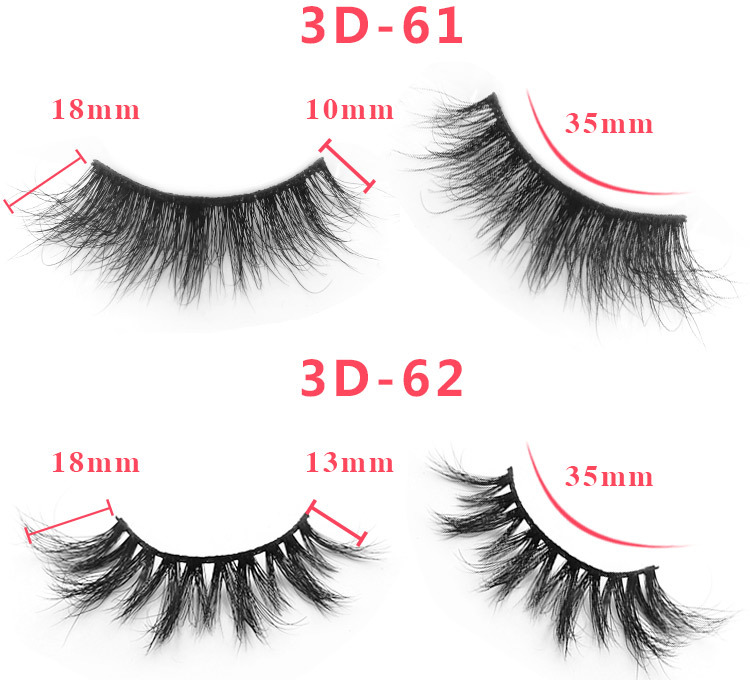 3d mink lashes size details 4301