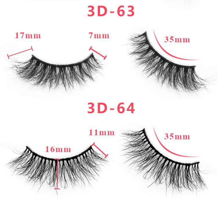 3d mink lashes size details 3453201