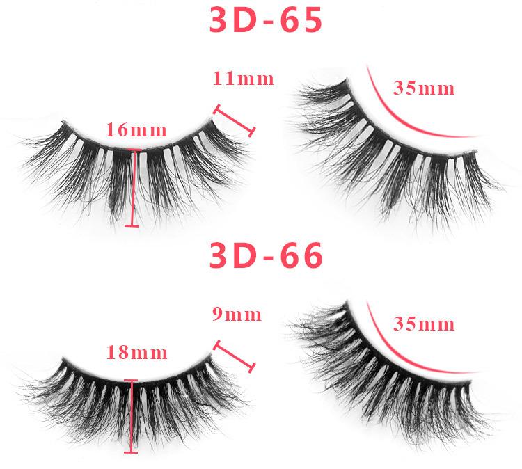 3d mink lashes size details 0231