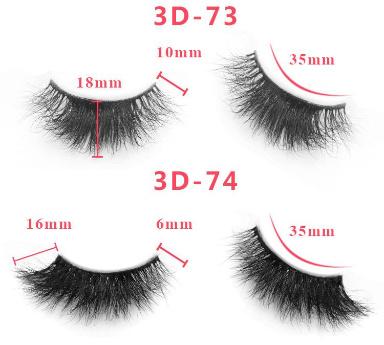 3d mink lashes size details 0651