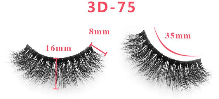 3d mink lashes size details 34301