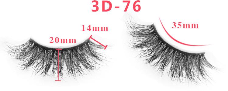 3d mink lashes size details 02331